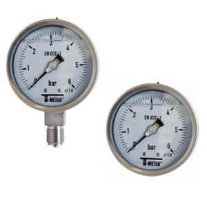 Nyomásmérő óra glicerines